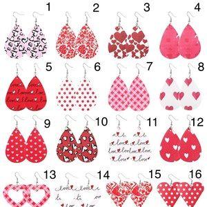 Valentine Day Love Heart Earrings Jewelry